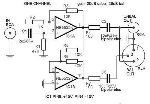 Нажмите на изображение для увеличения.  Название:Rangkaian  Unbalanced to balanced converter.jpg Просмотров:55 Размер:69.8 Кб ID:19578